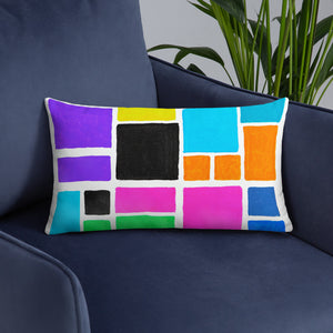 Boxes 6 THROW PILLOW pillow- Doodles by Wessel