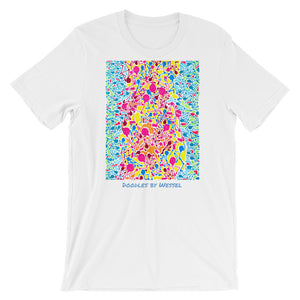 Doodles by Wessel - The stick figures 2 UNISEX T-SHIRT t-shirt- Doodles by Wessel