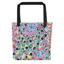 Load image into Gallery viewer, The Stick Figures 5 - Split - GRAPHIC ART TOTE