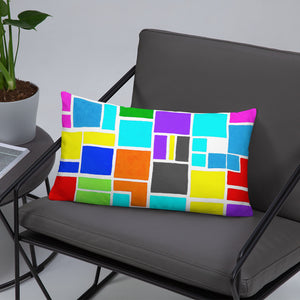 Boxes 17 THROW PILLOW pillow- Doodles by Wessel