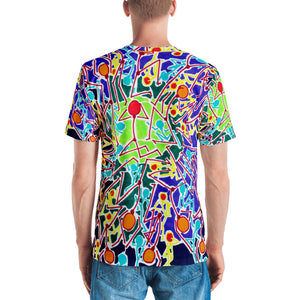 Doodles by Wessel - The Stick Figures 8 ALL OVER PRINT GRAPHIC TEE t-shirt- Doodles by Wessel