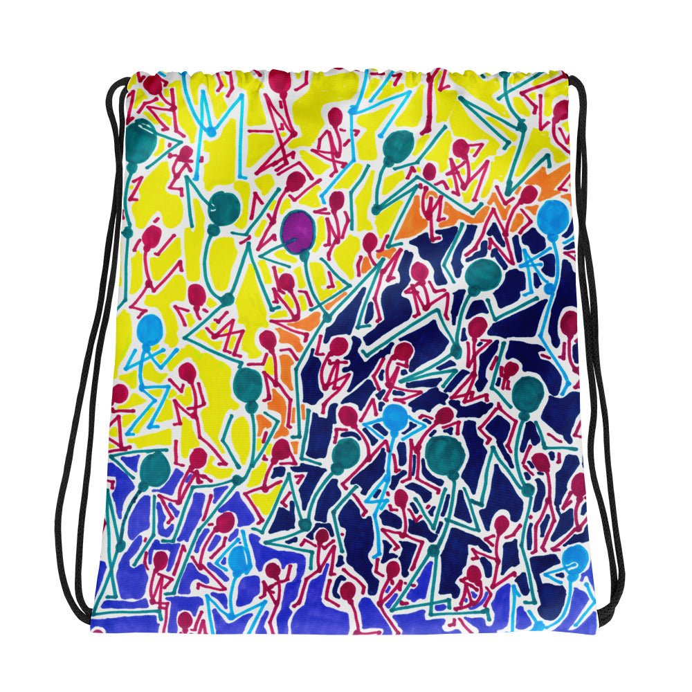 The Stick Figures 1 - GRAPHIC ART DRAWSTRING BAG