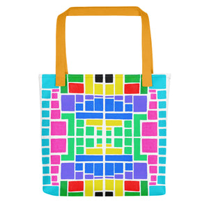 Boxes Series 3 - 2 alt Tote- Doodles by Wessel
