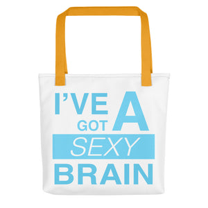 Wordmash - I've Got a Sexy Brain Tote- Doodles by Wessel