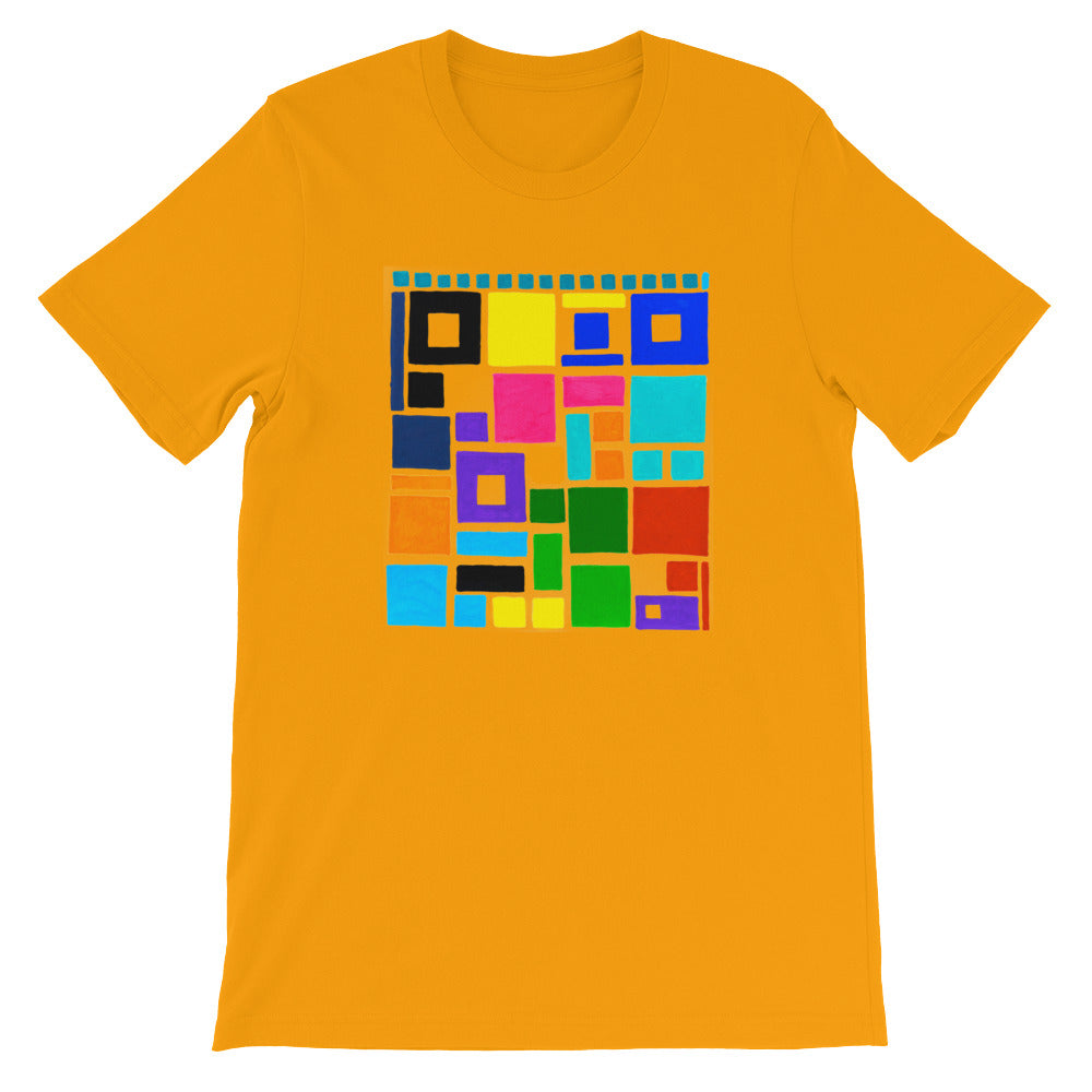 Boxes Series 2- 5 - ORANGE GRAPHIC ART T-SHIRT t-shirt- Doodles by Wessel