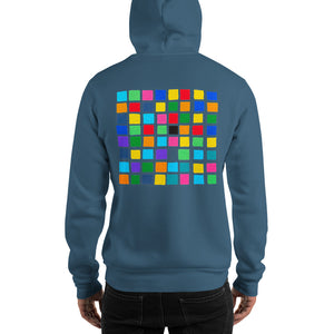 Boxes - 4 - EXPERIMENTS WITH COLOR HOODIE Hoodie- Doodles by Wessel
