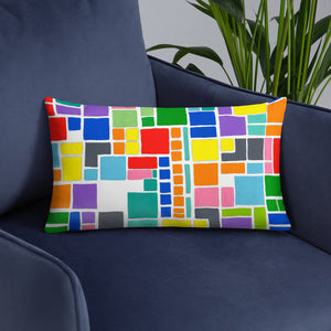 Boxes 19 THROW PILLOW pillow- Doodles by Wessel