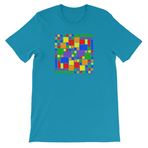 Boxes - 5 - 2 - AQUA GRAPHIC ART T-SHIRT t-shirt- Doodles by Wessel
