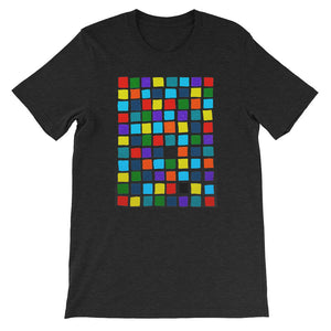 Boxes - 2 - BLACK GRAPHIC ART T-SHIRT t-shirt- Doodles by Wessel