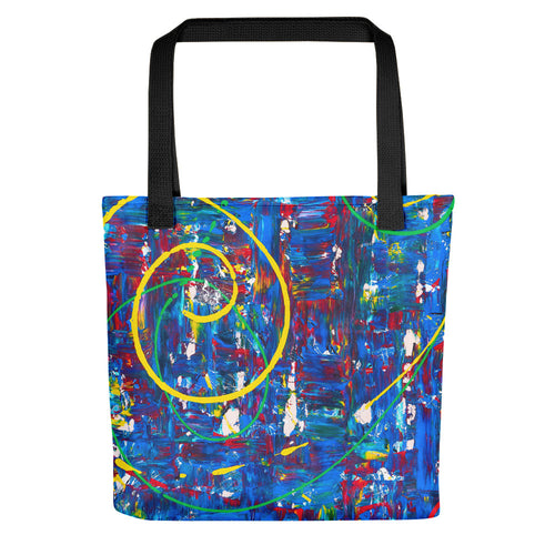 Abstract - HIDDEN FACES Tote- Doodles by Wessel