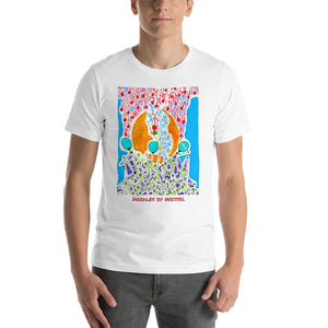 Doodles by Wessel - The Stick Figures 7 UNISEX T-SHIRT t-shirt- Doodles by Wessel
