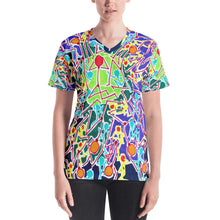 Load image into Gallery viewer, Doodles by Wessel - The Stick Figures 8 WOMENS ALL OVER PRINT V NECK SHIRT