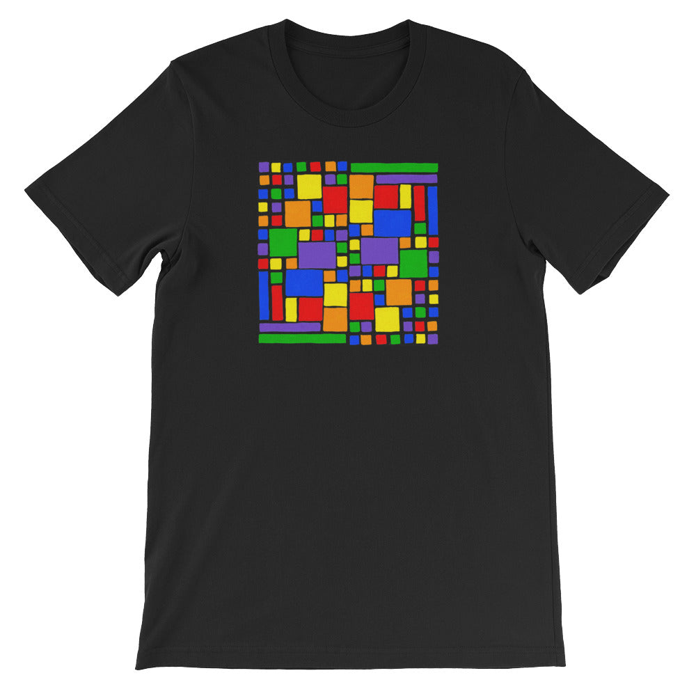Boxes - 5 - 2 - BLACK GRAPHIC ART T-SHIRT t-shirt- Doodles by Wessel