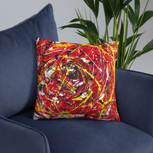 Load image into Gallery viewer, Abstract - THE EYE pillow- Doodles by Wessel