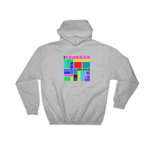 Boxes Series 3 - 5 - GRAY BACK PRINT PULLOVER HOODIE Hoodie- Doodles by Wessel