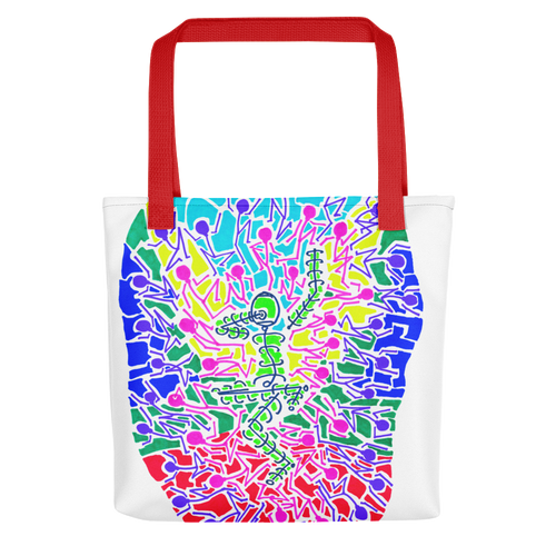The Stick Figures 9 - New Beginnings - GRAPHIC ART TOTE Tote- Doodles by Wessel