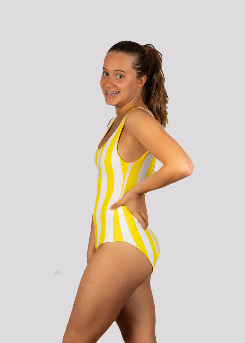 Yellow Coral Bay Classic One Piece (Reversible)