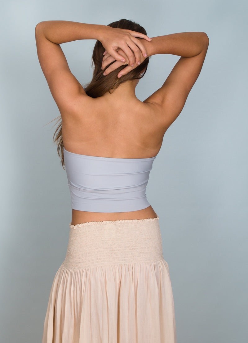Back view Mandalay Top in Dusty Grey by Hamec Spirit