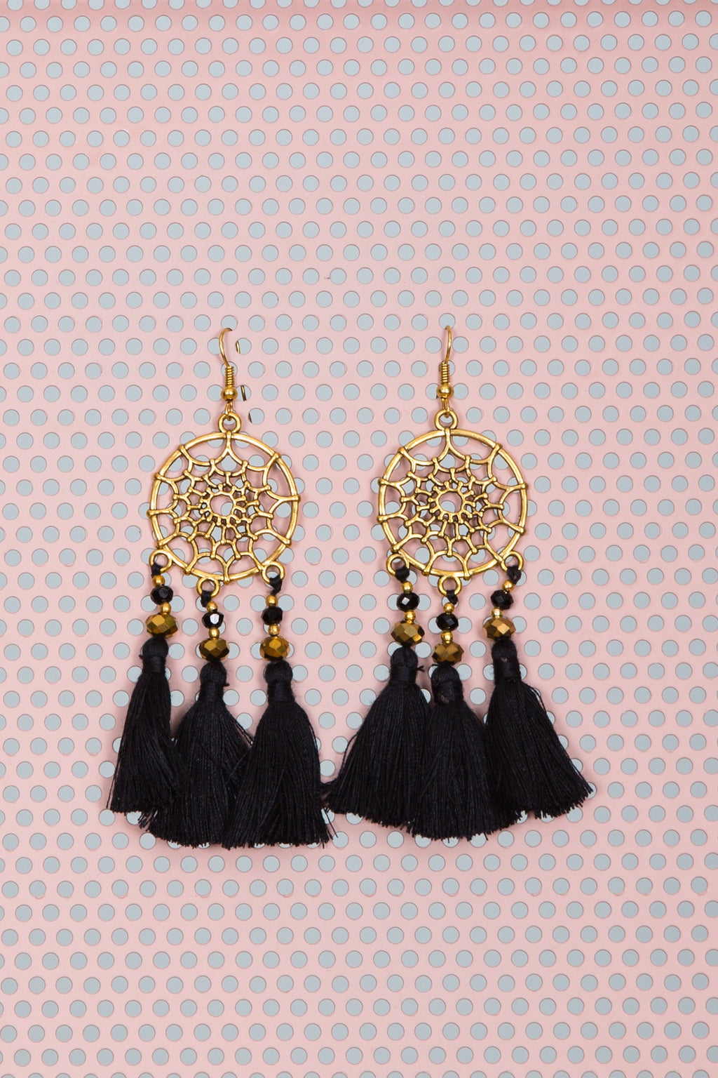 Wiluna Earrings Nero by Hamec Spirit