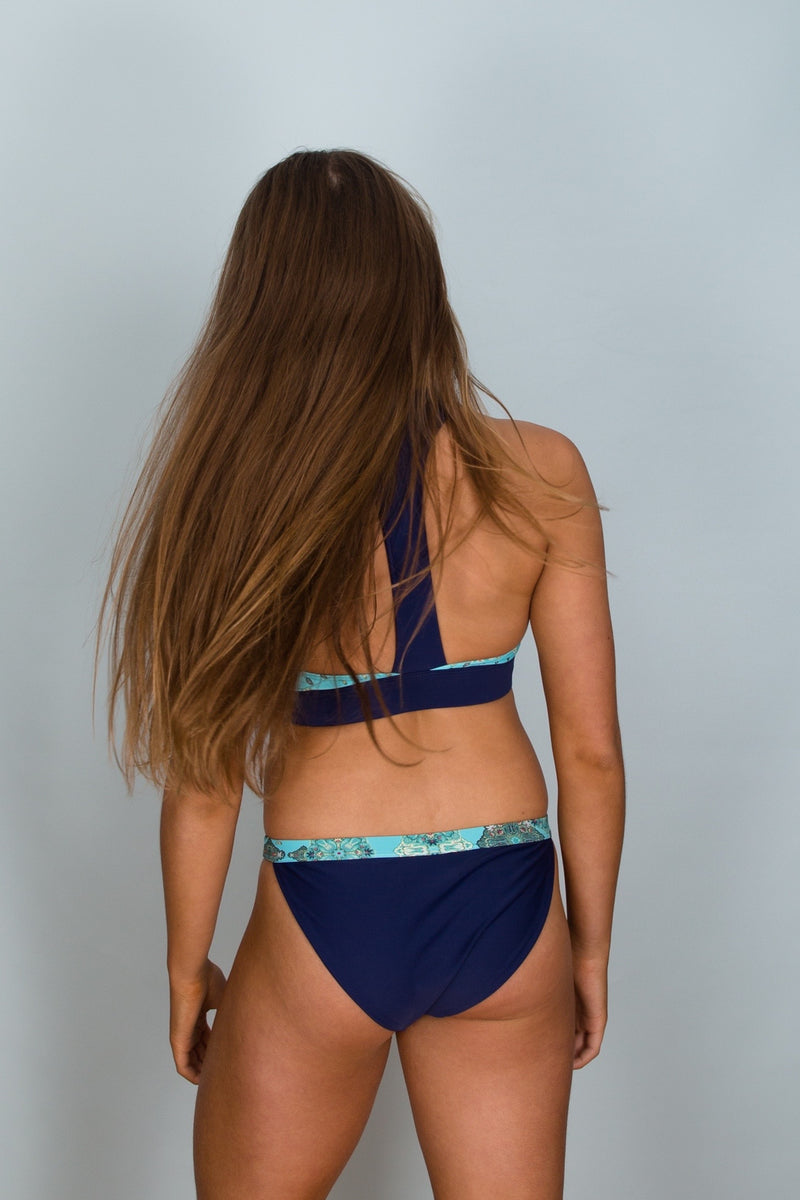 Back view Marlo Band Bottoms Sustainable Swimwear by Hamec Spirit