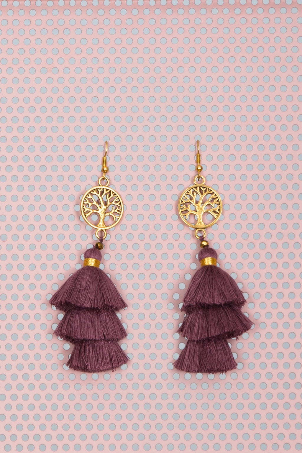 Wiluna Earrings Plum
