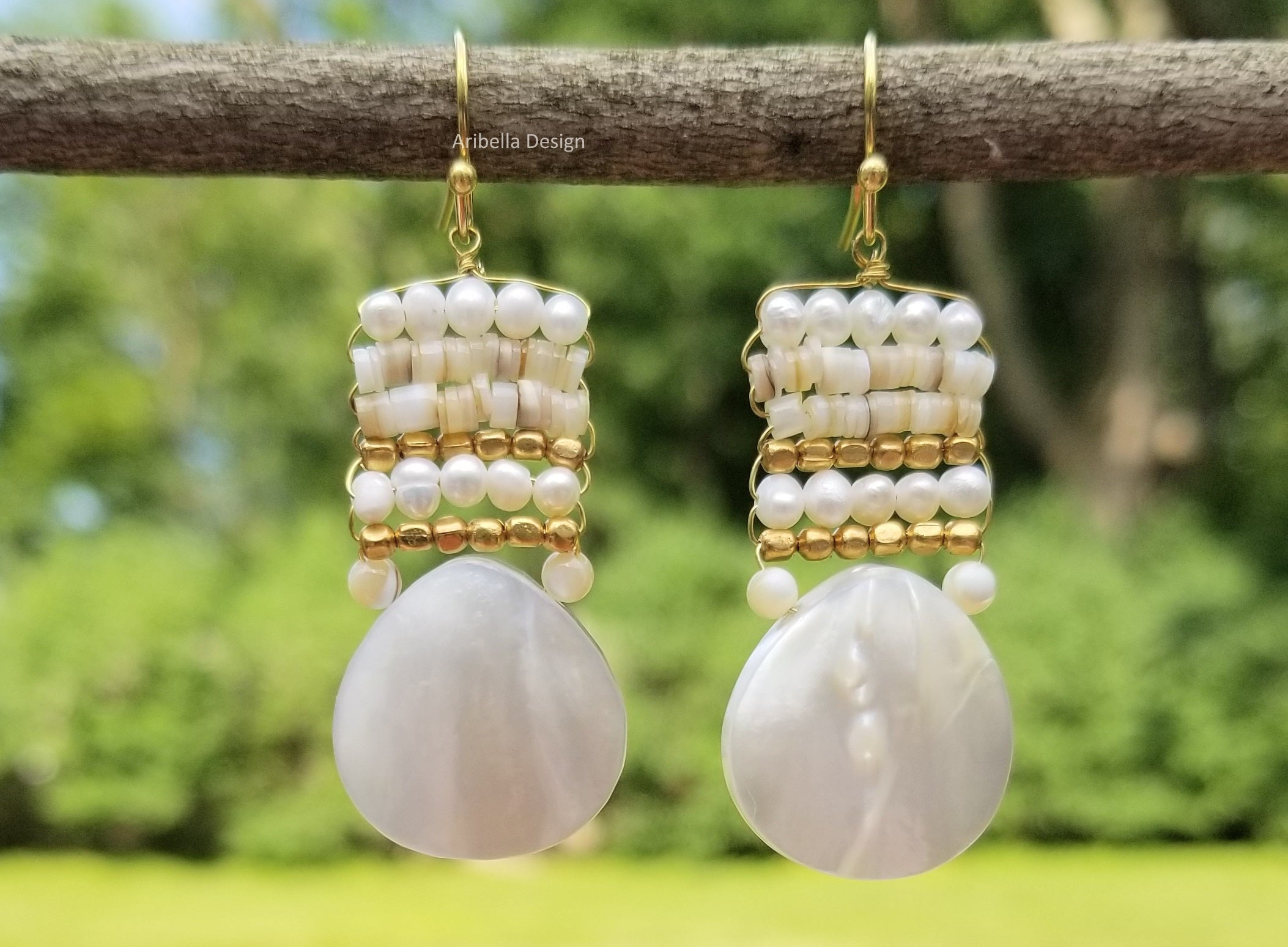Teardrop Mother of Pearl Earrings