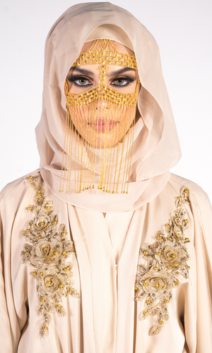 Sheikha Embellished Jacket - Cream
