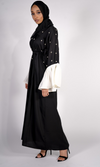 ASMA WHITE BELL SLEEVES ABAYA