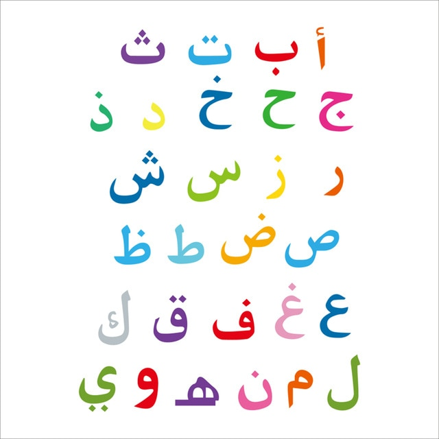 Arabic Alphabet Wal Stickers| Kids room|