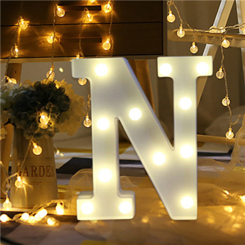 Diy Romantic Alphabet Letter Lights Decorate My Day Com