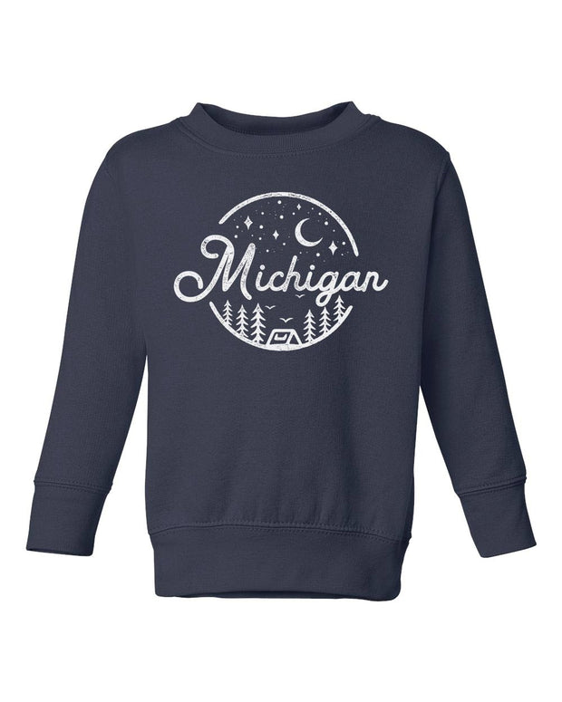 Night Sky - Kids Crewneck Sweatshirt