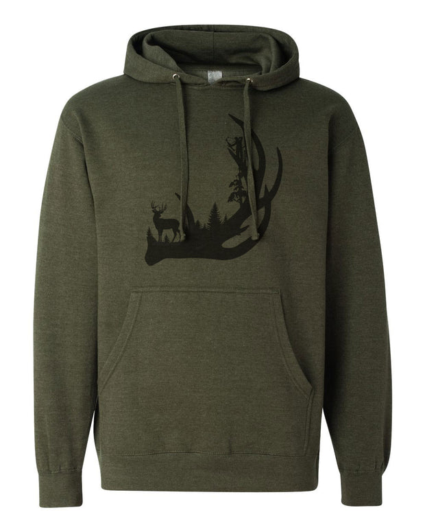 Deer Antler - Unisex Hooded Sweatshirt