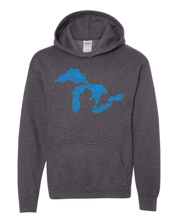 Swirling Water - Youth Hooded Sweatshirt