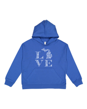Love Floral - Youth Hooded Sweatshirt