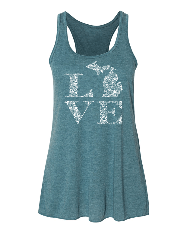 Love Floral - Ladies' Flowy Tank