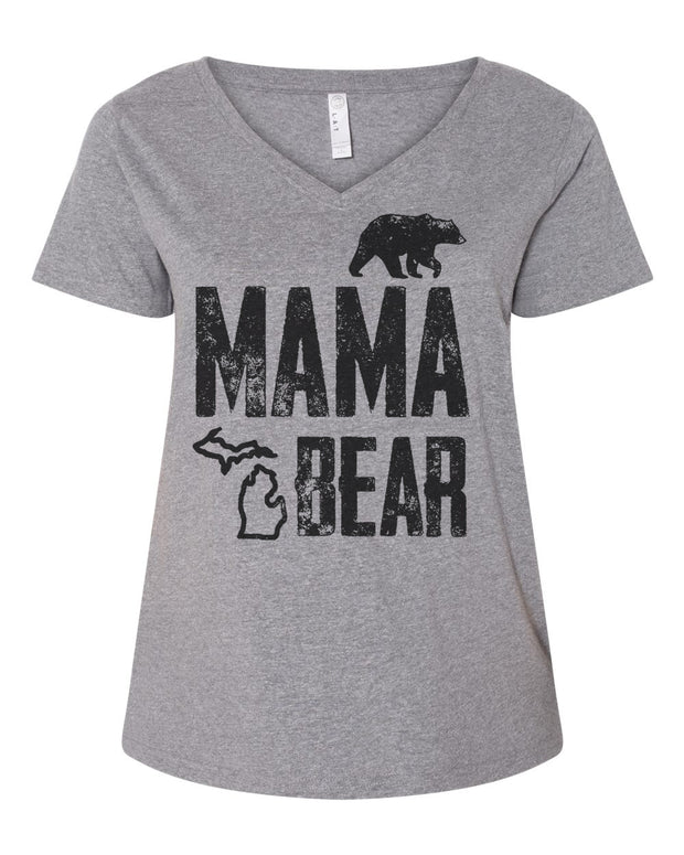 Mama Bear - Ladies' Curvy V-Neck