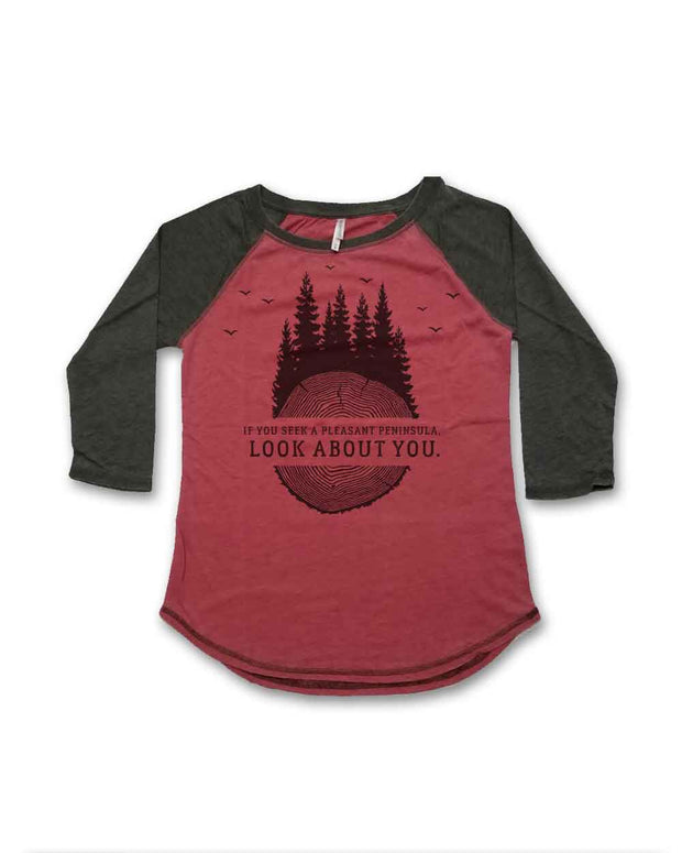 Pleasant Peninsula - Ladies' Baseball Tee
