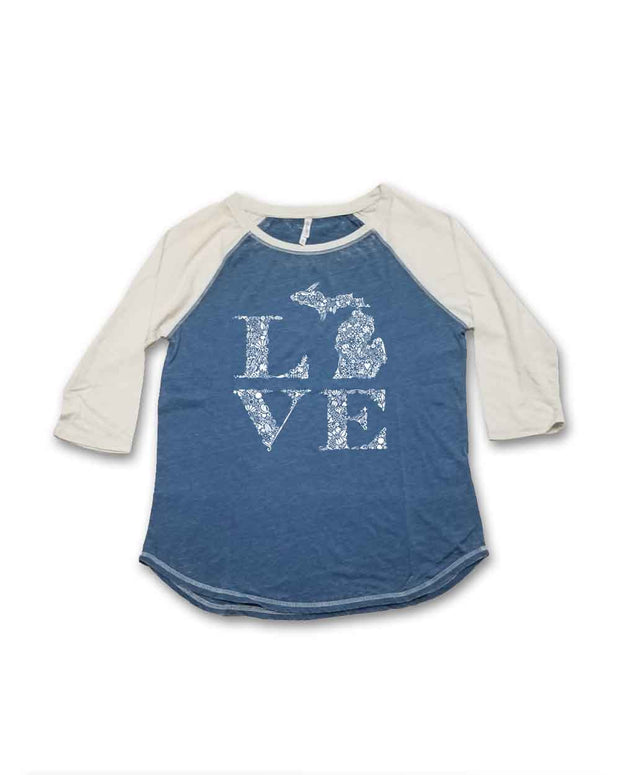 Love Floral - Ladies' Baseball Tee