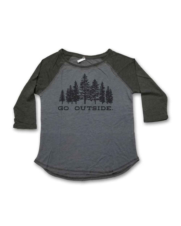Go Outside - Ladies' Baseball Tee