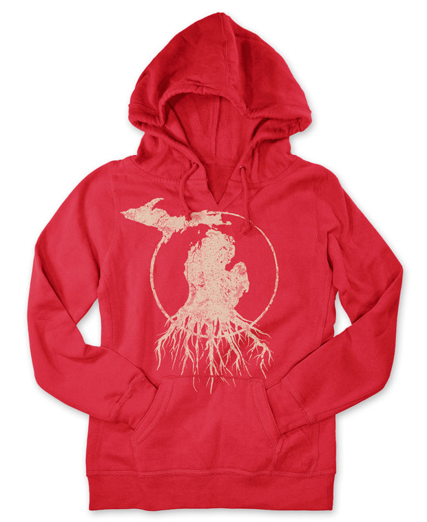 MI Roots - Ladies' V-Notch Pullover Hoodie
