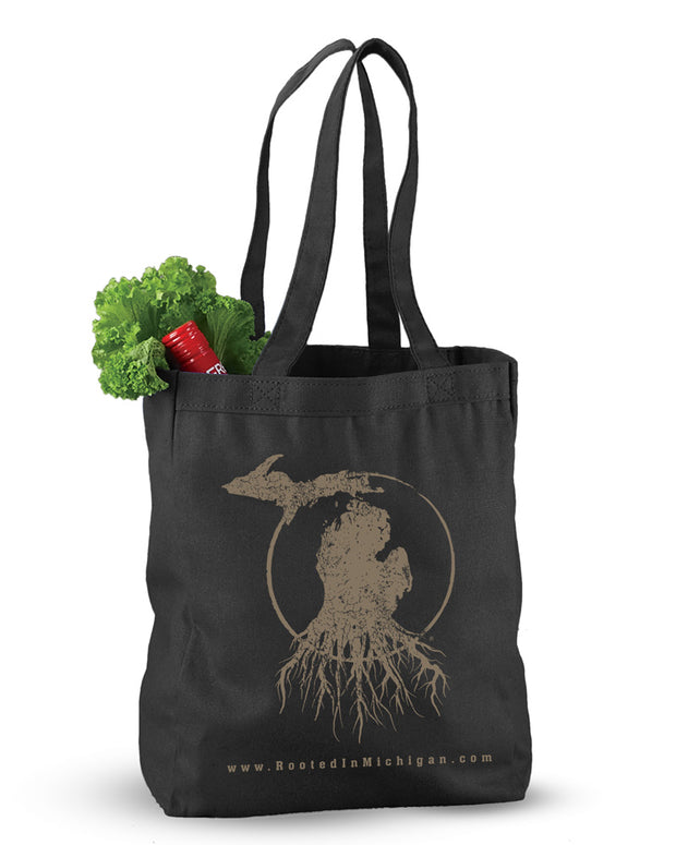 Rooted in MI - Reusable Canvas Tote