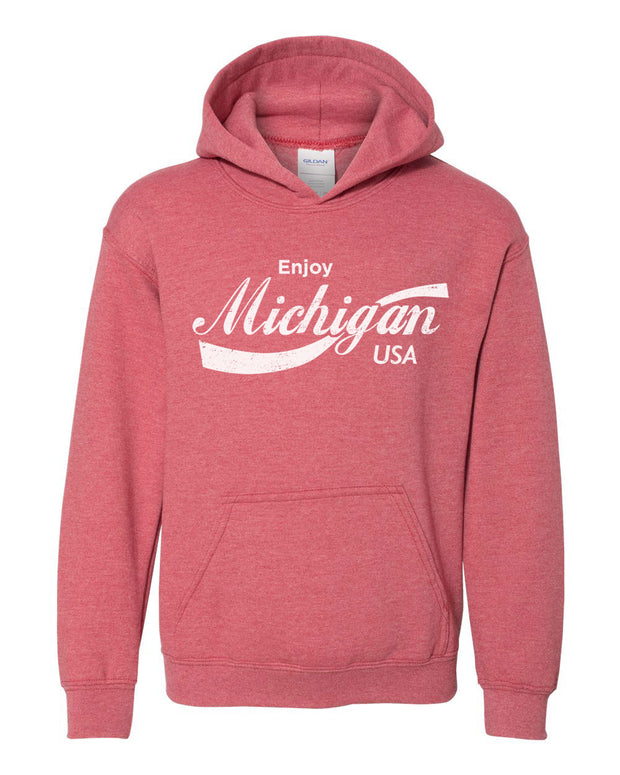 Enjoy Michigan - Youth Hooded Sweatshirt