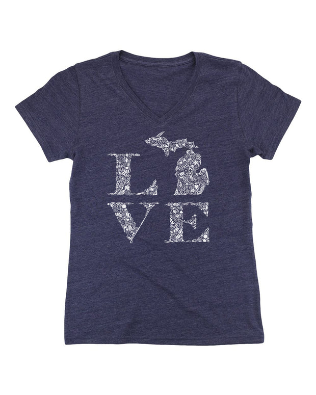 Love Floral - Ladies' V-Neck