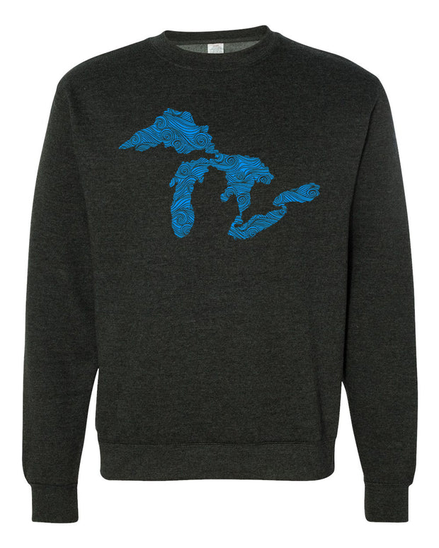 Swirling Water - Unisex Crewneck Sweatshirt