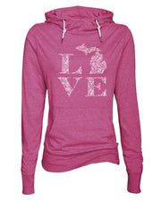 Love Floral - Ladies' Funnelneck Tee