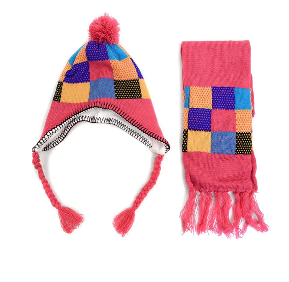 Two piece scarf and hats set