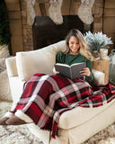 Holiday plaid throw