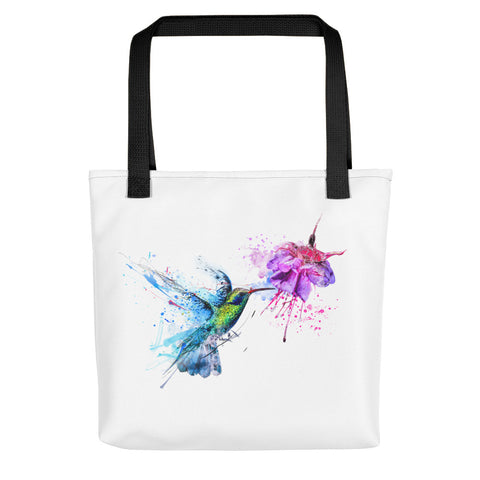 Artsy tote bag: Hummingbird art print
