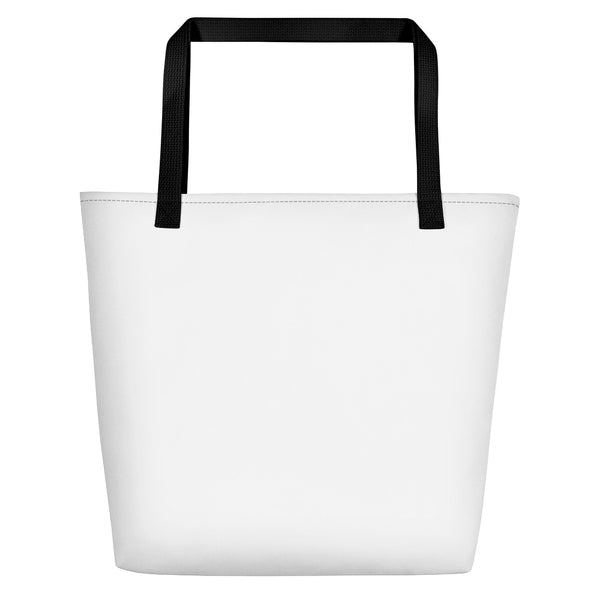 Beach bag back black handles