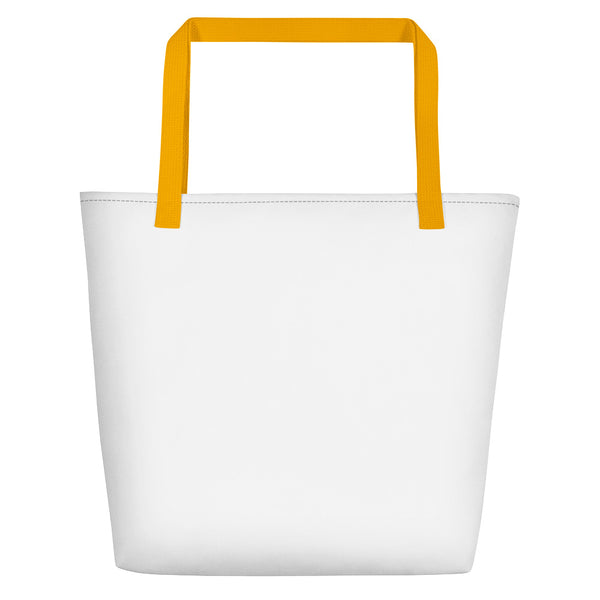 Beach bag back yellow handles